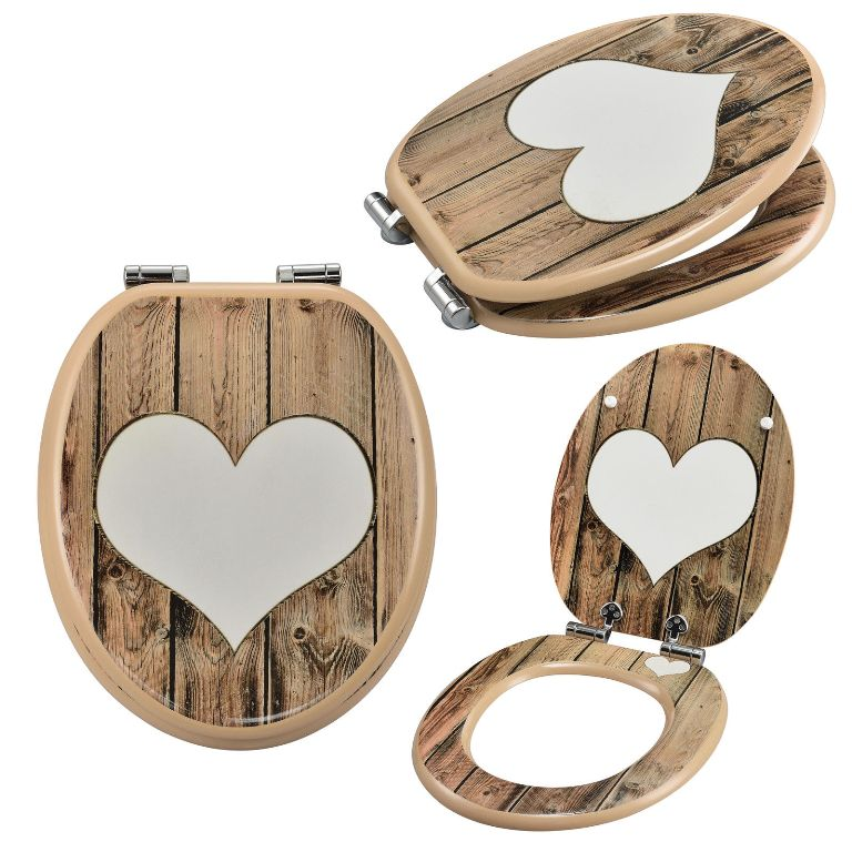 wc sitz toilettensitz soft close absenkung klo brille klodeckel herz holz 05 ebay. Black Bedroom Furniture Sets. Home Design Ideas