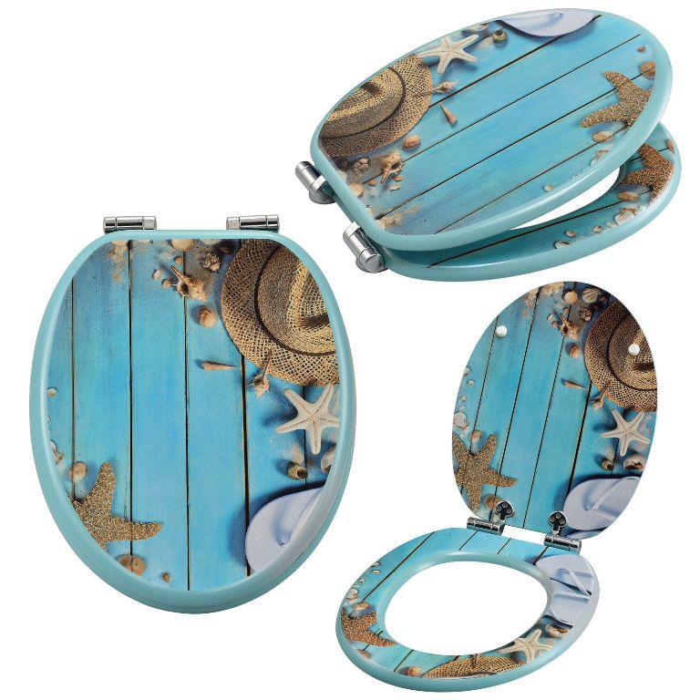 wc sitz toilettensitz soft close absenkung klo brille klodeckel strand holz 08 ebay. Black Bedroom Furniture Sets. Home Design Ideas