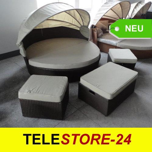 rattan gartenm bel lounge sonnenliege insel oase 141 ebay. Black Bedroom Furniture Sets. Home Design Ideas