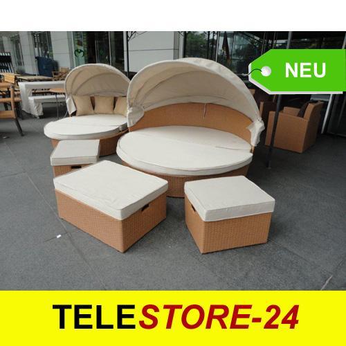 rattan gartenm bel lounge sonnenliege insel oase 625 ebay. Black Bedroom Furniture Sets. Home Design Ideas