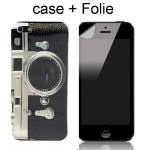 Set Case Kamera + Schutzfolie iPhone 4 / 4S, camera Hülle cover skin