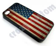 case USA Flagge für apple iPhone 5 / 5S, Hülle cover retro US Flag vintage