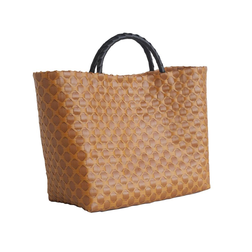 colibries hochwertige geflochtene shopper taschen aus 100 recyceltem kunststoff ebay. Black Bedroom Furniture Sets. Home Design Ideas