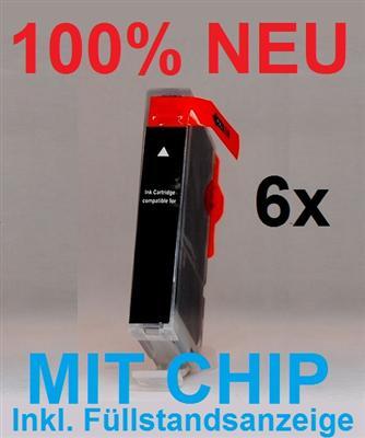 6x ink cartridge schwarz f r canon cli 526bk mg 8250 bad bentheim. Black Bedroom Furniture Sets. Home Design Ideas