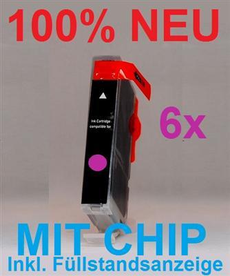 6x ink cartridge magenta f r canon cli526m pixma ip4850 bad bentheim. Black Bedroom Furniture Sets. Home Design Ideas