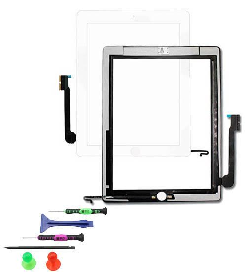 touchscreen glas display digitizer scheibe front f r apple ipad 2 weiss ebay. Black Bedroom Furniture Sets. Home Design Ideas