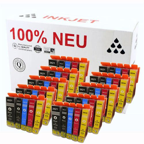 10-50x Tintenpatronen für Epson Expression Premium XP 710 800 810 XP-510