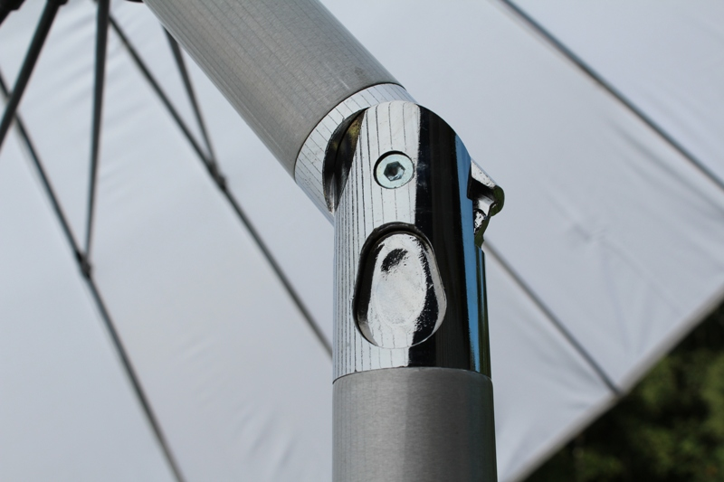 3m Mit Kurbel Finest Luxus Ampelschirm M Anthrazit Grau