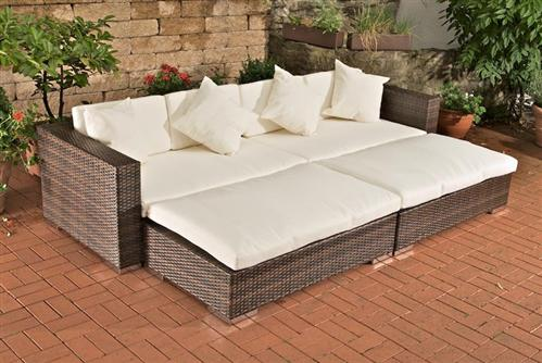daybed lounge sonnenliege aus polyrattan in braun neu sonneninsel. Black Bedroom Furniture Sets. Home Design Ideas
