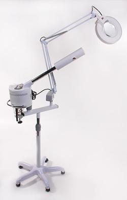 bedampfer mit lupenlampe ozon vapozon neu ebay. Black Bedroom Furniture Sets. Home Design Ideas