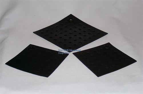 silikon topflappen und untersetzer set 3 teilig ebay. Black Bedroom Furniture Sets. Home Design Ideas