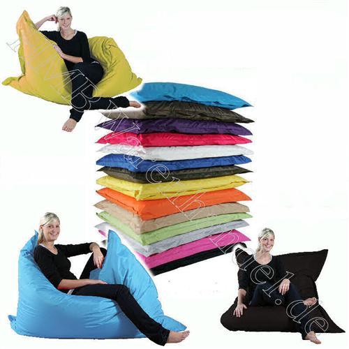 riesen sitzsack xxl sitzkissen 140x180 outdoor geeignet 14 trendige farben ebay. Black Bedroom Furniture Sets. Home Design Ideas