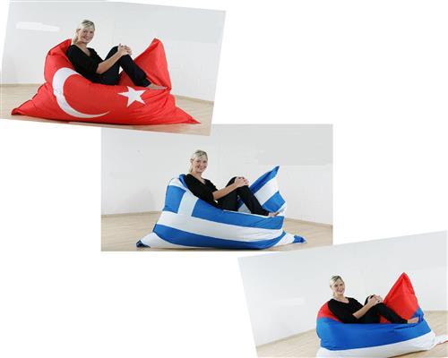 riesen sitzsack flagge xxl sitzkissen 140x180 outdoor geeignet 3 l nder ebay. Black Bedroom Furniture Sets. Home Design Ideas