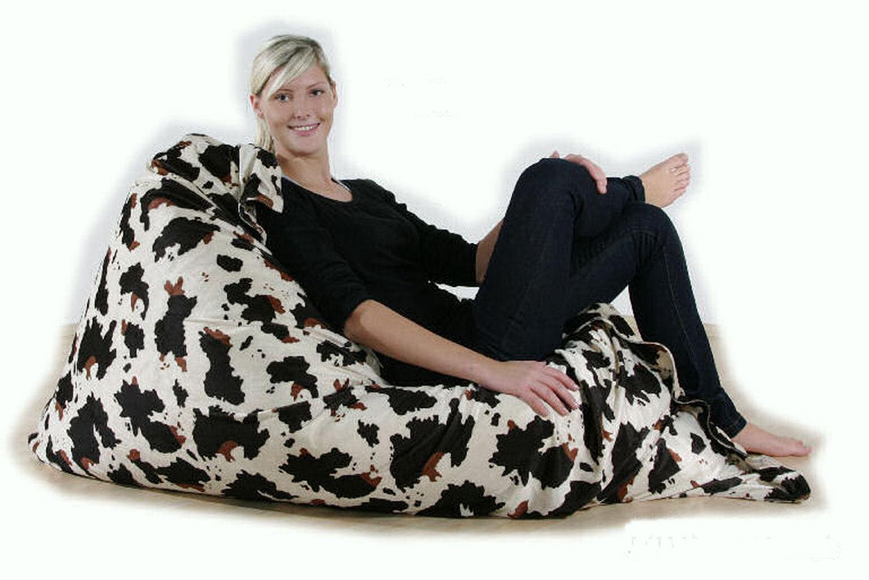 riesen sitzsack xxl sitzkissen pl sch tiger giraffe leopard kuh 140x180 ebay. Black Bedroom Furniture Sets. Home Design Ideas