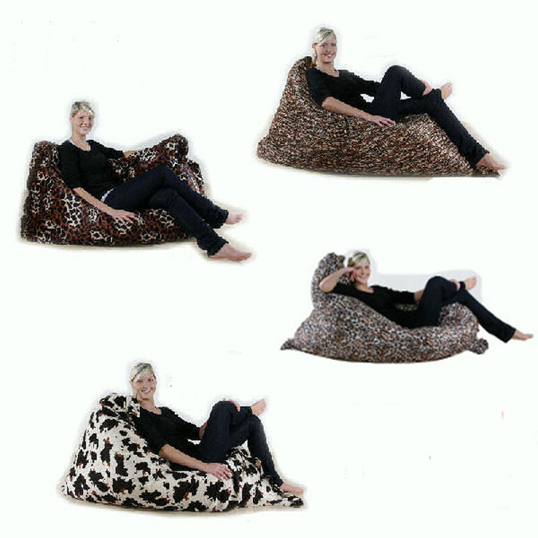 riesen sitzsack xxl sitzkissen pl sch tiger giraffe. Black Bedroom Furniture Sets. Home Design Ideas