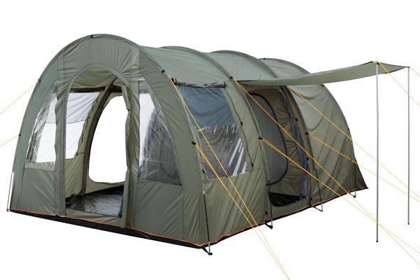 CampFeuer® - Tunnelzelt mit vernähtem Boden, 4 Personen, 5000 mm WS