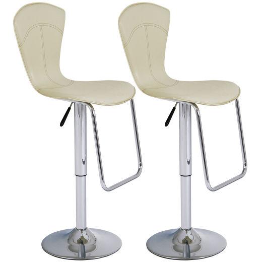 2x design barhocker hohe r ckenlehne creme k che haushalt. Black Bedroom Furniture Sets. Home Design Ideas