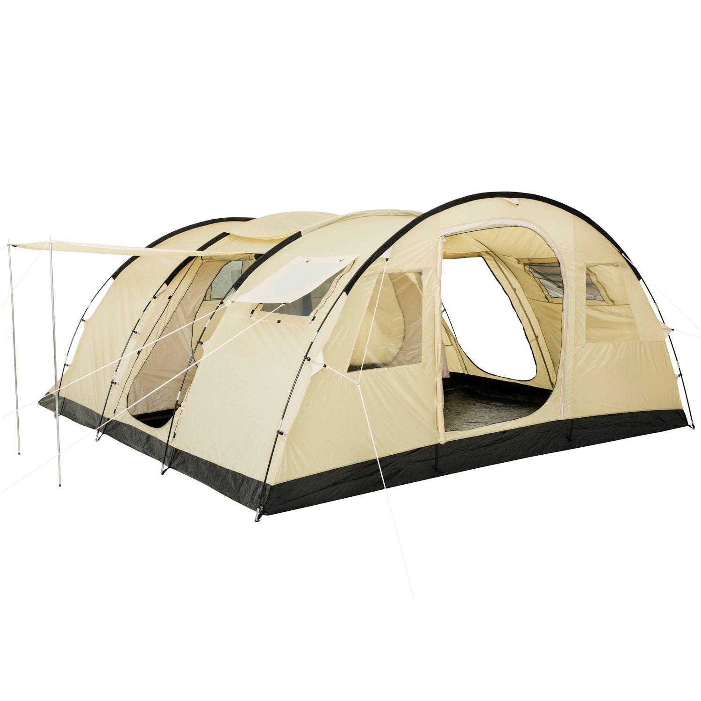 tunnelzelt zelt familienzelt gruppenzelt mit 2 kabinen neu. Black Bedroom Furniture Sets. Home Design Ideas