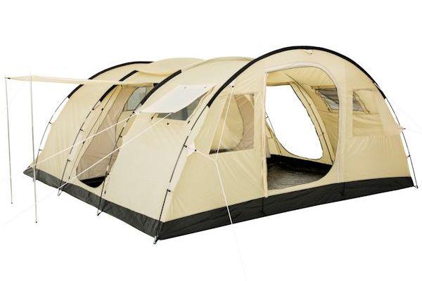 CampFeuer® - Großes Tunnelzelt, 6 Personen, beige / sand, 5000 mm WS