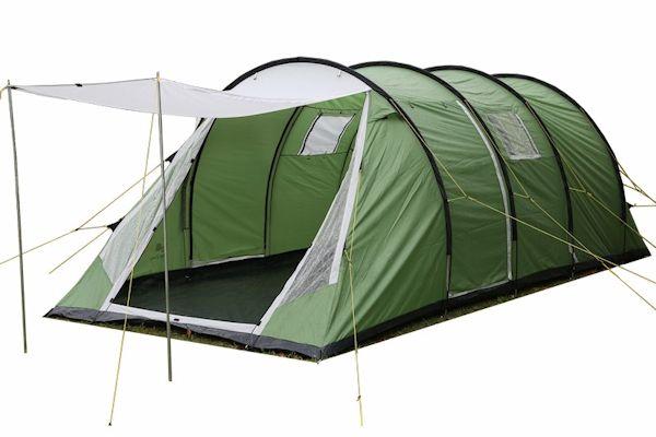 CampFeuer® - Tunnelzelt, 6 Personen, grün, 3000 mm WS