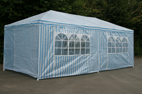 pavillion partyzelt 3x6m blau wei. Black Bedroom Furniture Sets. Home Design Ideas