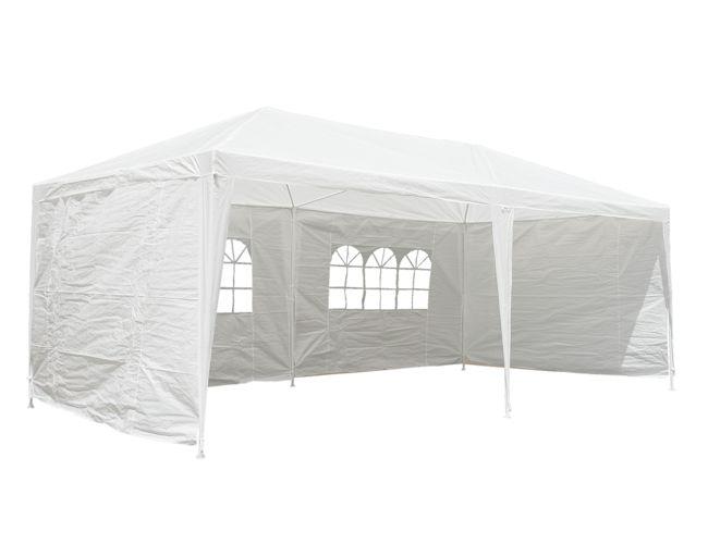 CampFeuer® -  Pavillon, Partyzelt, Festzelt -  3x6 m, weiß