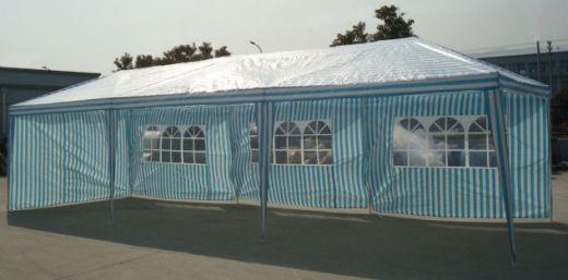 pavillion partyzelt 3x9m blau wei. Black Bedroom Furniture Sets. Home Design Ideas