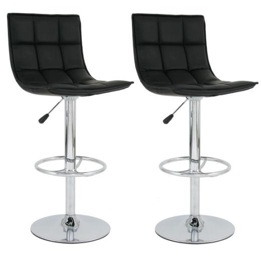 2 x barhocker milano stuhl barstuhl mit lehne schwarz ebay for Design stuhl milano echtleder