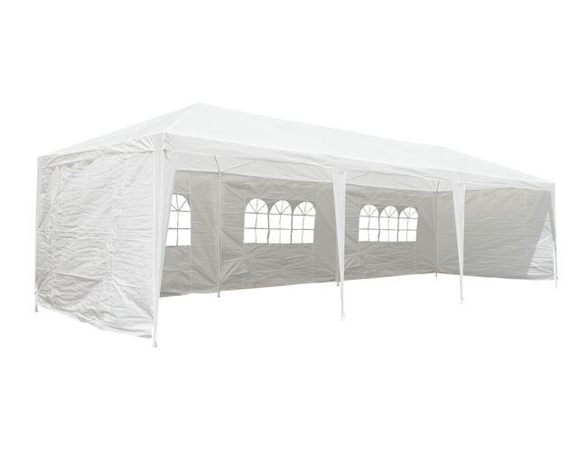 CampFeuer® -  Pavillon, Partyzelt, Festzelt -  3x9 m, weiß