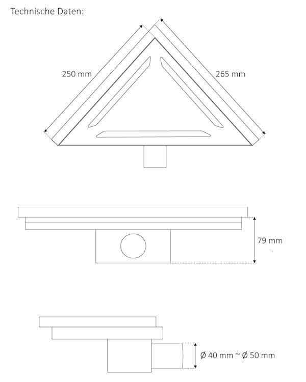 edelstahl bodenablauf 25 cm duschrinne in seuzach kaufen bei. Black Bedroom Furniture Sets. Home Design Ideas