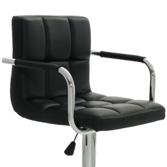2 x barhocker barstuhl mit armlehne schwarz venice von. Black Bedroom Furniture Sets. Home Design Ideas