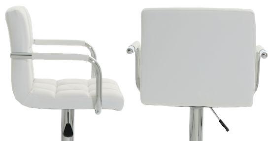 2 x barhocker barstuhl mit armlehne wei venice neu. Black Bedroom Furniture Sets. Home Design Ideas