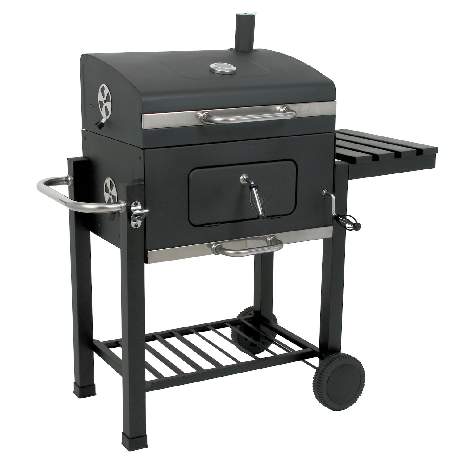 bbq bull black oak smoker holzkohle bbq grillwagen barbecue grill ebay. Black Bedroom Furniture Sets. Home Design Ideas