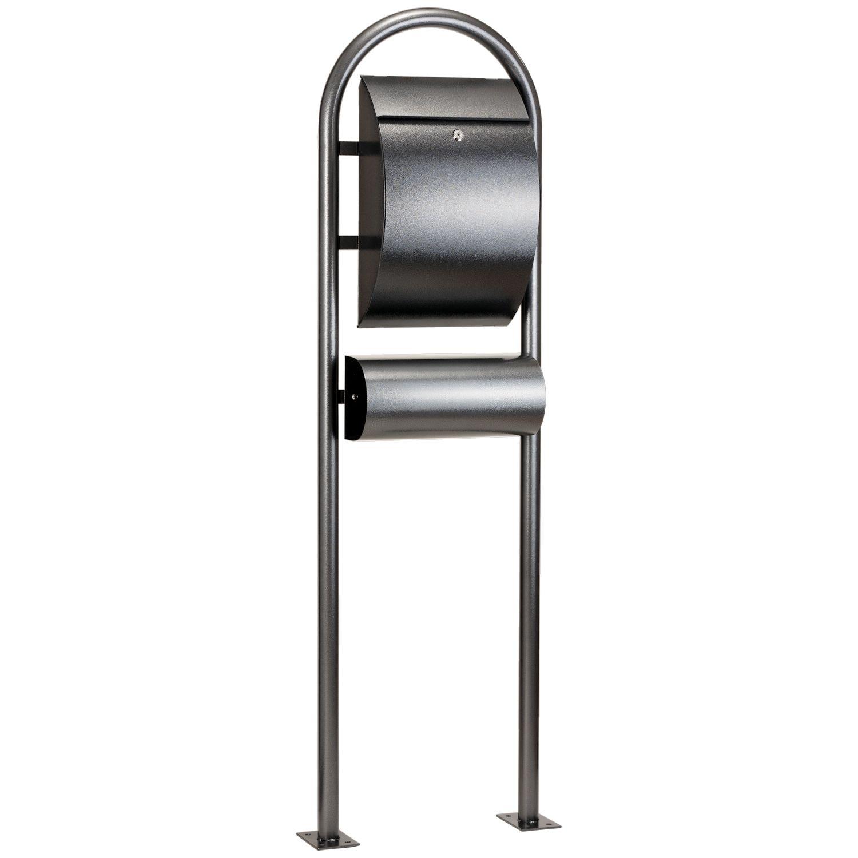 zelsius standbriefkasten briefkasten mit zeitungsrolle. Black Bedroom Furniture Sets. Home Design Ideas