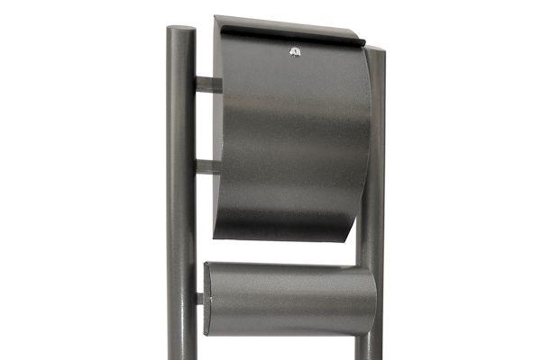 zelsius edelstahl 4fach standbriefkasten briefkastenanlage. Black Bedroom Furniture Sets. Home Design Ideas