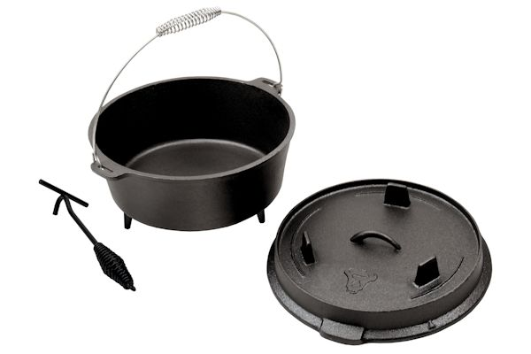 dutch oven mit deckelheber modell 6qt 5 7 liter gusseisen kessel ebay. Black Bedroom Furniture Sets. Home Design Ideas
