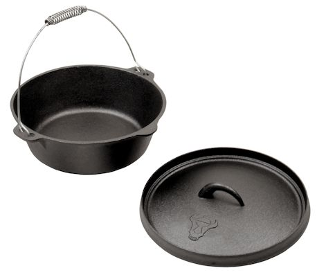 dutch oven 3qt 3 0 liter modell gusseisen kessel dox03 ebay. Black Bedroom Furniture Sets. Home Design Ideas