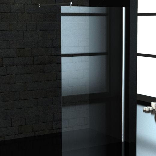 duschabtrennung duschkabine walk in 8mm esg glas 115 x 200 cm. Black Bedroom Furniture Sets. Home Design Ideas