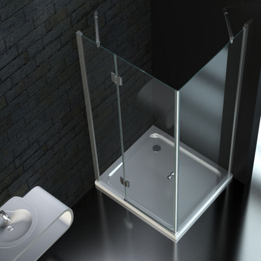 duschkabine dusche mit duschwanne 90x90 cm 9l 8mm glas ebay. Black Bedroom Furniture Sets. Home Design Ideas