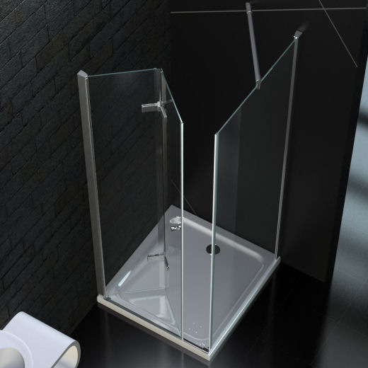 faltt r duschkabine 90 x 90 cm 8mm esg glas mit acryl duschwanne ebay. Black Bedroom Furniture Sets. Home Design Ideas