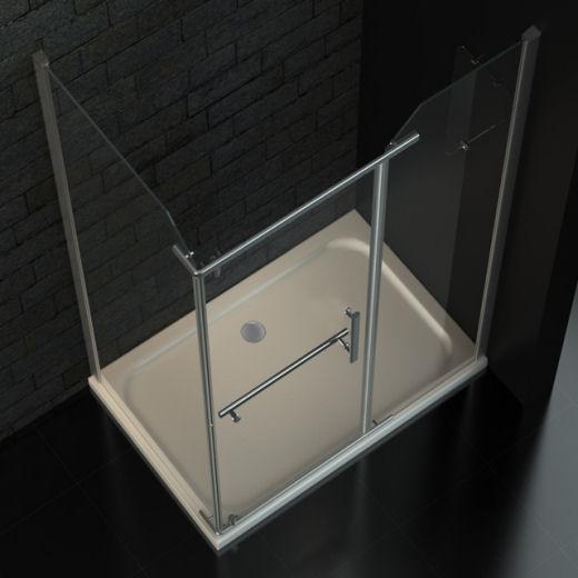 zelsius duschkabine dusche mit lotuseffekt 120x80 cm 8mm. Black Bedroom Furniture Sets. Home Design Ideas