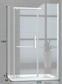 120x90 cm duschkabine dusche mit acryl duschwanne 8mm esg sicherheitsglas ebay. Black Bedroom Furniture Sets. Home Design Ideas