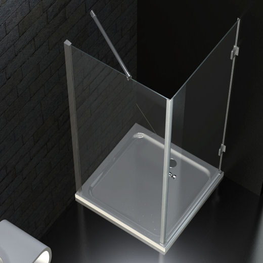 eckeinstieg duschkabine 90 x 90 cm 8mm esg glas mit acryl duschwanne ebay. Black Bedroom Furniture Sets. Home Design Ideas