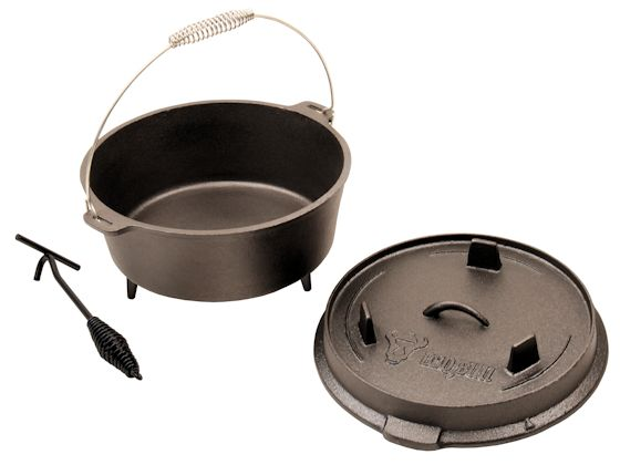 bbq bull dutch oven 7 liter mit deckelheber do9 gusseisen kessel ebay. Black Bedroom Furniture Sets. Home Design Ideas