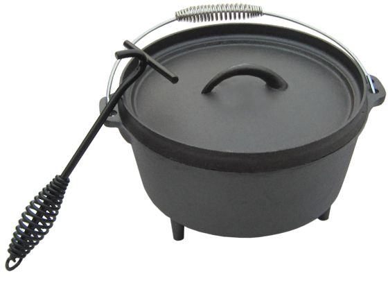 dutch oven mit deckelheber modell 4 5 qt 4 3 liter gusseisen kessel ebay. Black Bedroom Furniture Sets. Home Design Ideas
