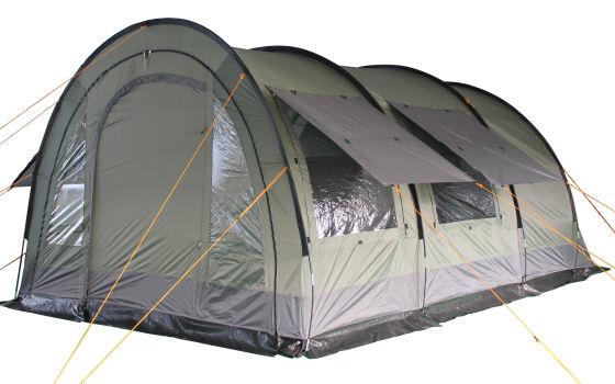 tunnelzelt zelt 2 kabinen versetzbarer wand 5000mm ws 4. Black Bedroom Furniture Sets. Home Design Ideas