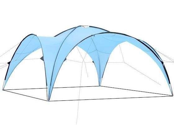CampFeuer® - Event Pavillon, Event Shelter, 4,5 x 4,5 m, hellbau
