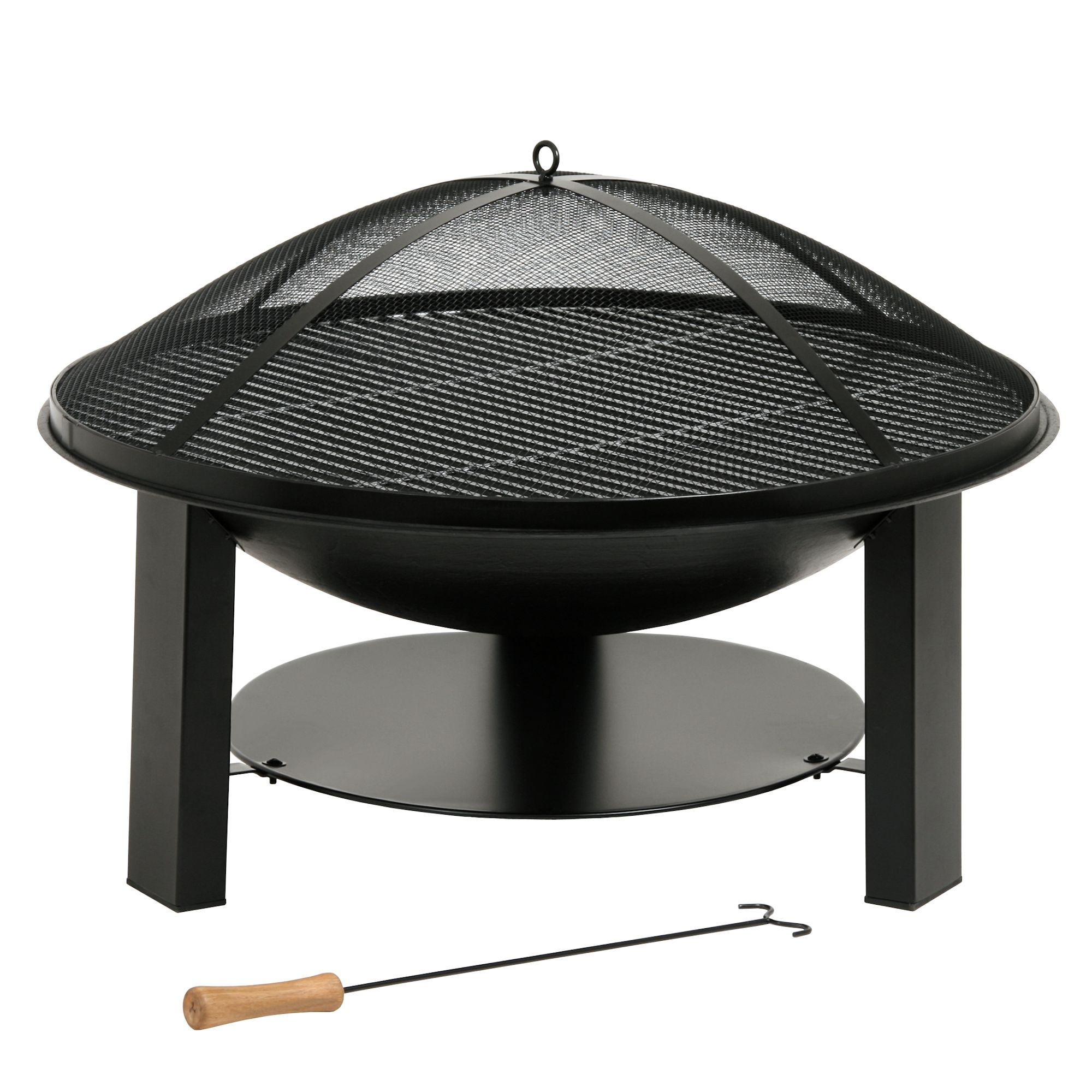 feuerschale terrassenofen grill gartenfeuer aus gusseisen 75 cm ebay. Black Bedroom Furniture Sets. Home Design Ideas