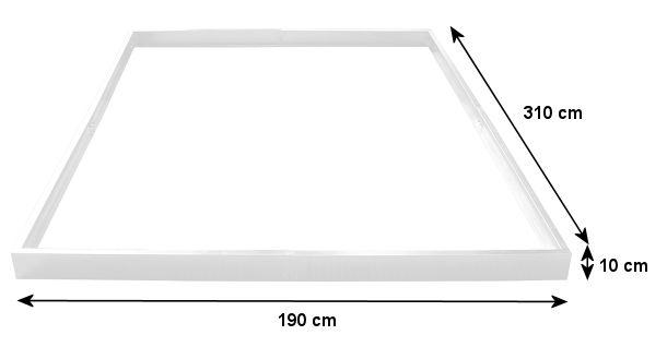 zelsius fundament f r gew chshaus 310 x 190 cm glashaus garten treibhaus. Black Bedroom Furniture Sets. Home Design Ideas