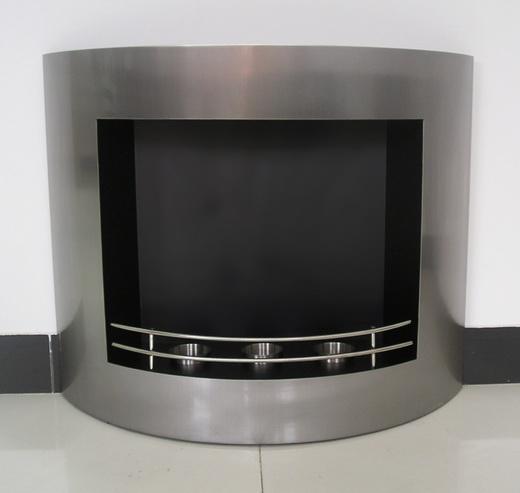 design edelstahl gelkamin dekokamin abgerundet k che haushalt. Black Bedroom Furniture Sets. Home Design Ideas